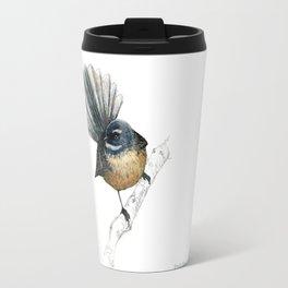 Mr Pīwakawaka, New Zealand native bird fantail Travel Mug