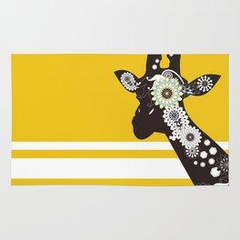 Funky Cool Paisley Giraffe Rug