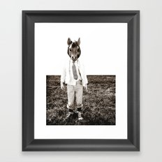 Portrait of a Boy Framed Art Print