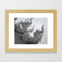 The White Temple - Thailand - 013 Framed Art Print
