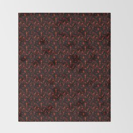 Dark Tortoiseshell Throw Blanket