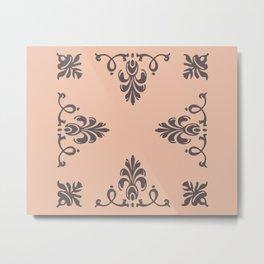Rococo Floral Elements I Metal Print
