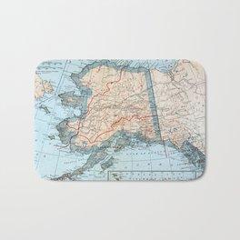 Vintage Map of Alaska (1921) Bath Mat