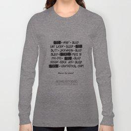 Bleepin' Words Long Sleeve T-shirt