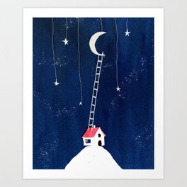 Ladder to the Moon Art Print