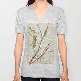 Mantid And Stick Insect Unisex V-Neck
