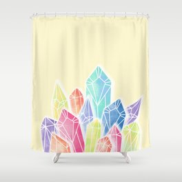 Crystals Yellow Shower Curtain