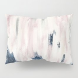 Blush Pink and Blue Pretty Abstract Pillow Sham