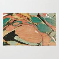 utah Area & Throw Rugs featuring Abstract Painting ; Utah by bialy kot art