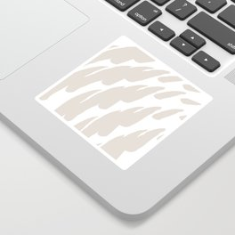 Neutral Abstract Brush Marks Sticker
