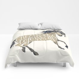 cream colored ponies Comforters