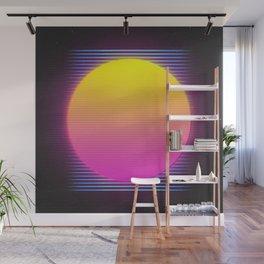 Retro 80's Neon Sunrise Wall Mural