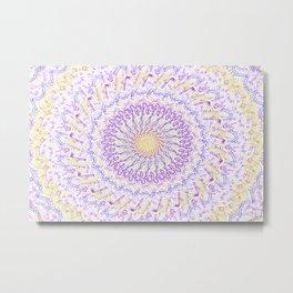 Yellow & Purple design Metal Print