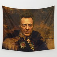 replaceface Wall Tapestries featuring Christopher Walken - replaceface by replaceface