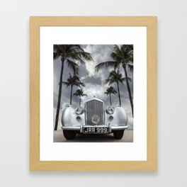 Vintage Car Photography | Palm Trees | California Vibes Framed Art Print