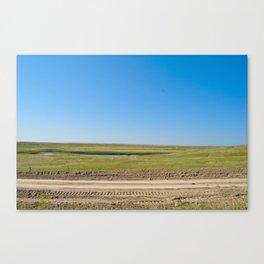 Nebraska is Flat, man. Canvas Print