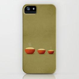 Goldilocks & the Three Bears iPhone Case