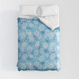 Snowflakes on blue Comforters