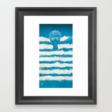 On the clouds Framed Art Print