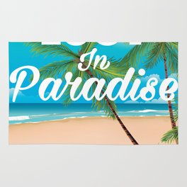 Lost in paradise travel poster Rug