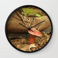 mushroom Wall Clocks featuring Mushroom by JCalls Photography