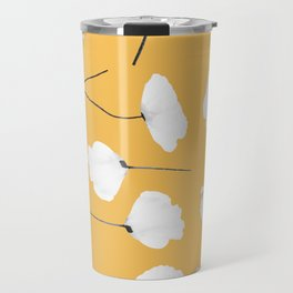 Poppies on mustard Travel Mug