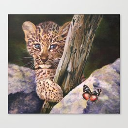 Leopard Baby Wild Things Canvas Print