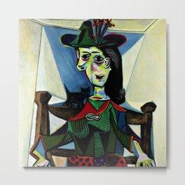 Dora Maar au Chat by Pablo Picasso Metal Print