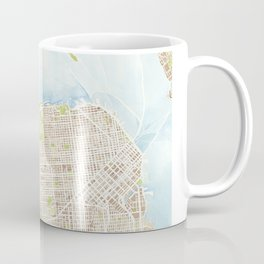 San Francisco CA City Map  Coffee Mug
