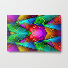 Grid of colors ... Metal Print