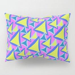 Neon Drawn Triangle Pillow Sham