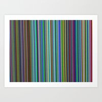 TV LINES Art Print