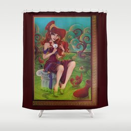 Megara Damsel in Distress Shower Curtain