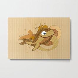 Delphin Metal Print