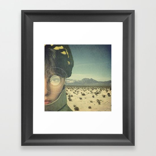 We do not truly see light, we only see slower things lit by it. Framed Art Print