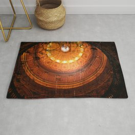 Rustic glowing retro vintage Steampunk Dome Rug