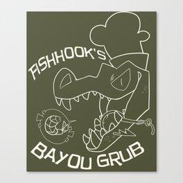 Fishhook's Bayou Grub - Light Lines Canvas Print