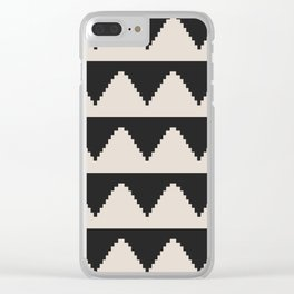 Geometric Pyramid Pattern - Black Clear iPhone Case
