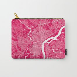 Philadelphia map raspberry Carry-All Pouch