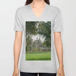 Exotic Palm Trees Unisex V-Neck