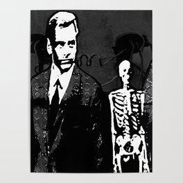 Dr. Hughes And The Skeleton In His Classroom Poster