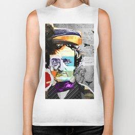 Edgar Allan Poe Collage Portrait by Michel Keck Biker Tank