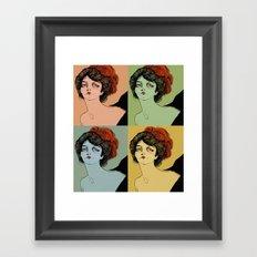 4 Colors Framed Art Print