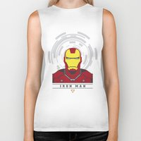 ironman Biker Tanks featuring IRONMAN by Nuthon Design