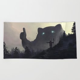 yo bro is it safe down there in the woods? yeah man it's cool Beach Towel