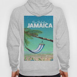 'Pure Paradise' Jamaica travel poster Hoody