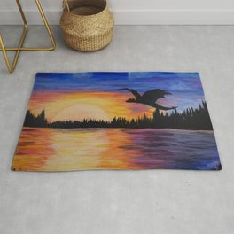 The Dragon Flies at Sunset Rug