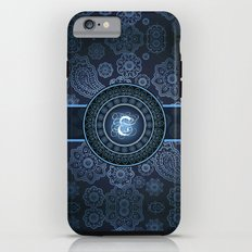 Monogrammed Aridi E Blue Tough Case iPhone 6
