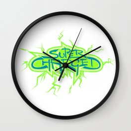 Super Charged High Wall Clock