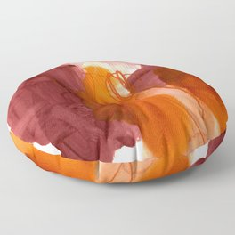 abstract painting X Floor Pillow